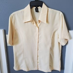 Haggar yellow blouse